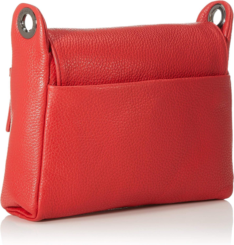 Mandarina Duck Mellow Leather Tracolla/Flame Scarlet, Sac à bandoulière Femme, 34.5x25x5.5 Centimeters (W x H x L) Rouge (Flame Scarlet)