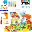 Haptime 237-Pieces Electric DIY Drill Educational Set