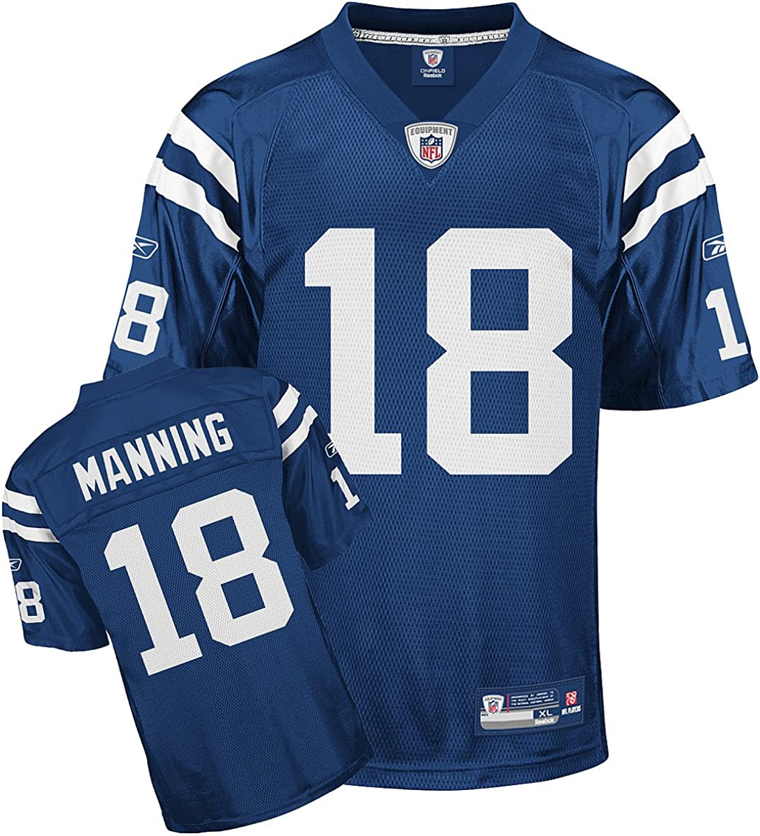 B0002LXXOM Peyton Manning #18 Indianapolis Colts NFL Royal Youth Replica Jersey 81A0TnFPzML
