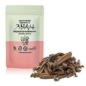 Roasted Sword Bean Pod Tea [Korean Food ] Traditional Asian Superfood for Gut Health, Artisinal Roast Herbal Tea [ JRND Foods ] 30g