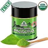 Matcha Green Tea Powder - [CFIA Organic] - Japanese Ceremonial Grade - 100% Pure Natural Antioxidant Uji Superfood Energy Booster - Premium Top Quality 20 servings [30g Size]