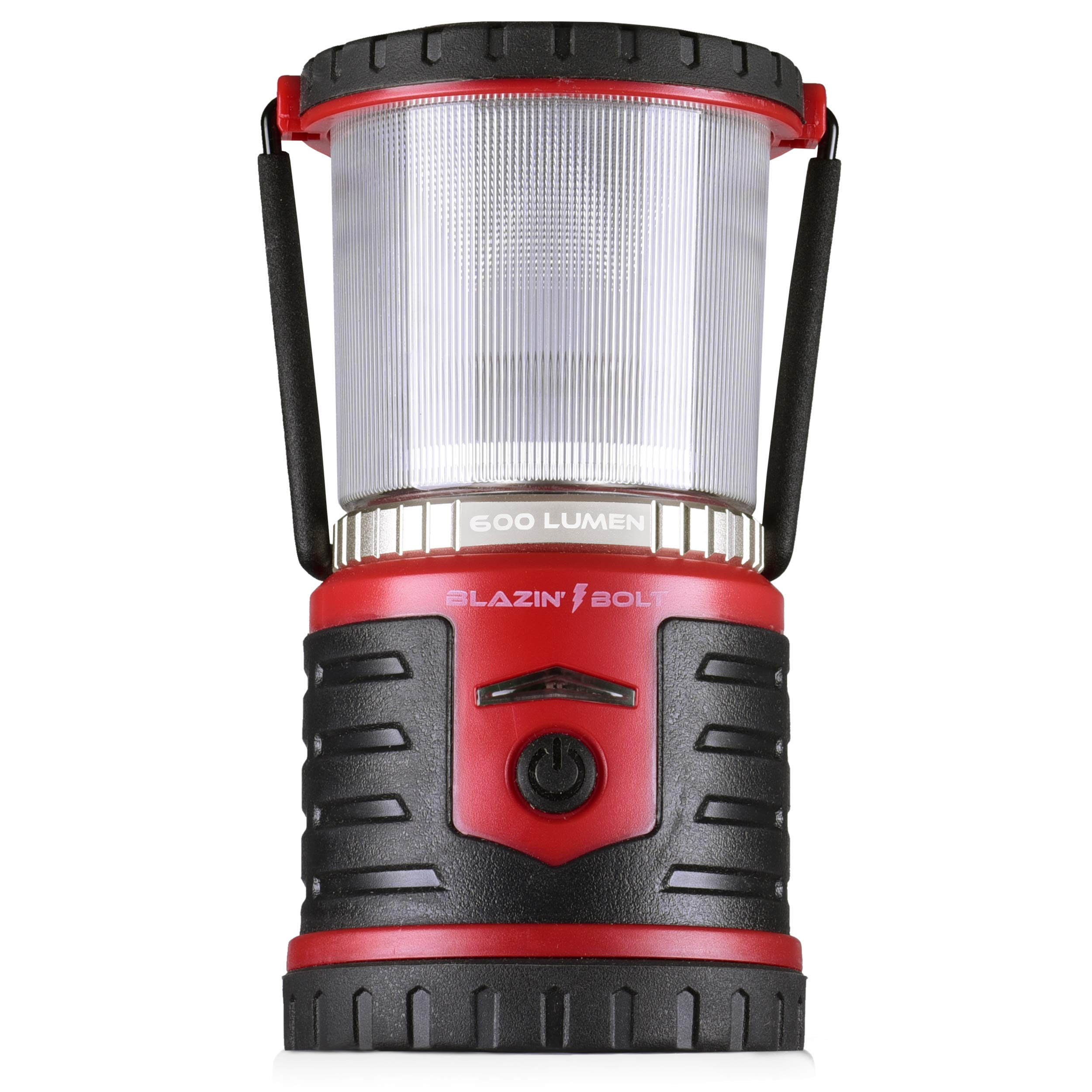 Blazin' Bison Battery Rechargeable LED Lantern | 500 Hour Runtime | Phone Charger | Camping Light (600 Lumen, Red) by Blazin' Bison