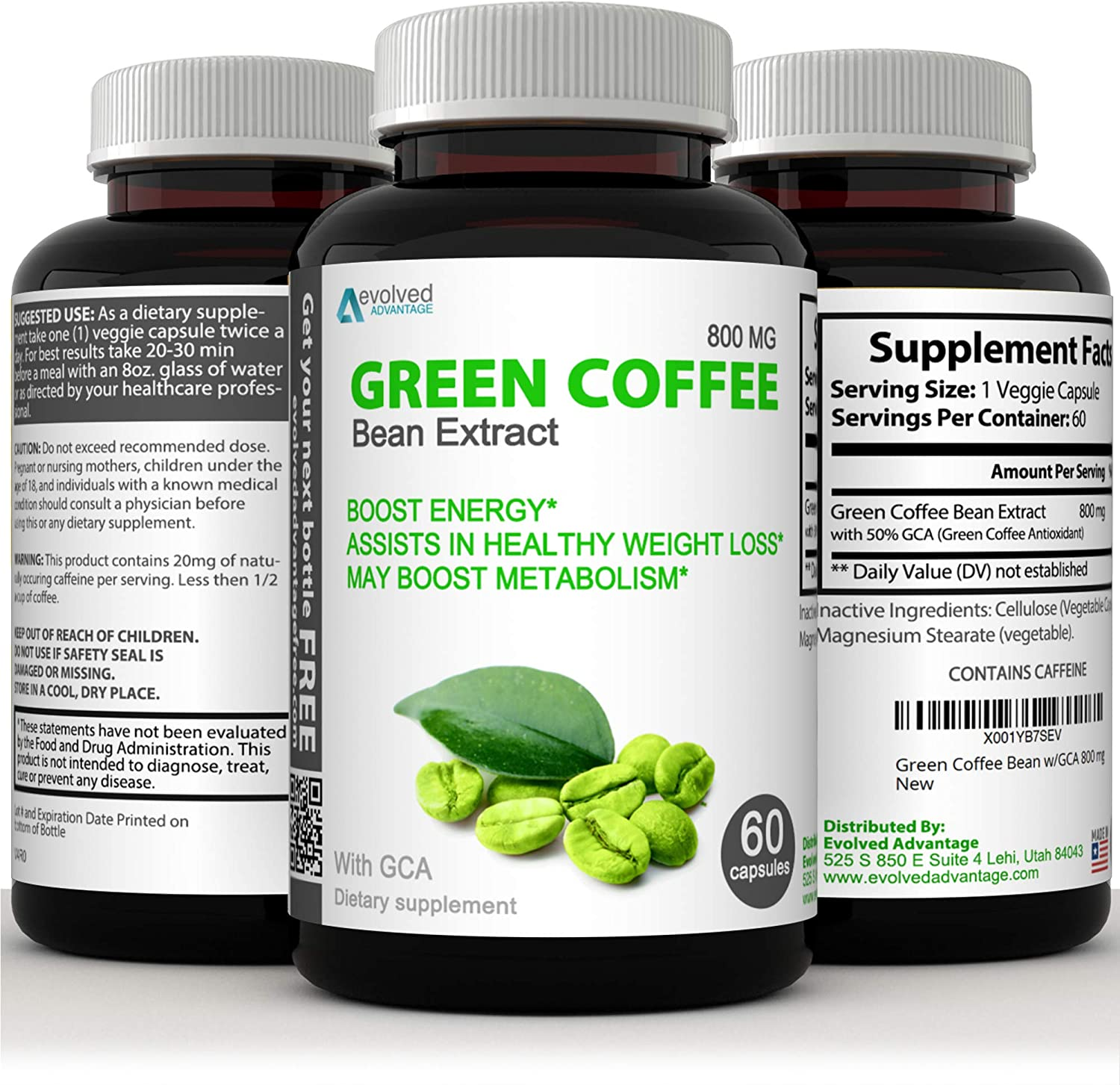 Amazon Com Green Coffee Bean Extract Immune Support And Weight Loss Supplement Max Strength Natural Gca
