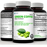 Green Coffee Bean Extract Immune Support and Weight Loss Supplement - Max Strength Natural GCA Antioxidant Cleanse for…