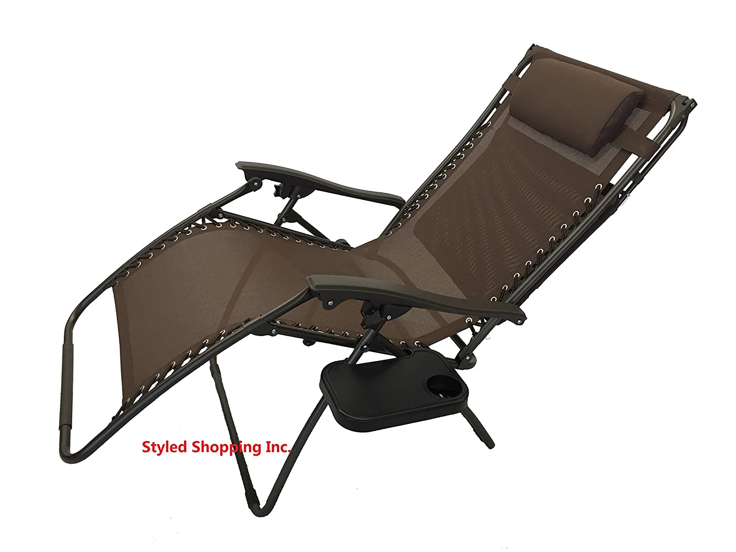 Extra large zero gravity chair - Amazon Com Extra Wide Oversized Brown Zero Gravity Chair With Canopy Tray Lawn Chairs Garden Outdoor