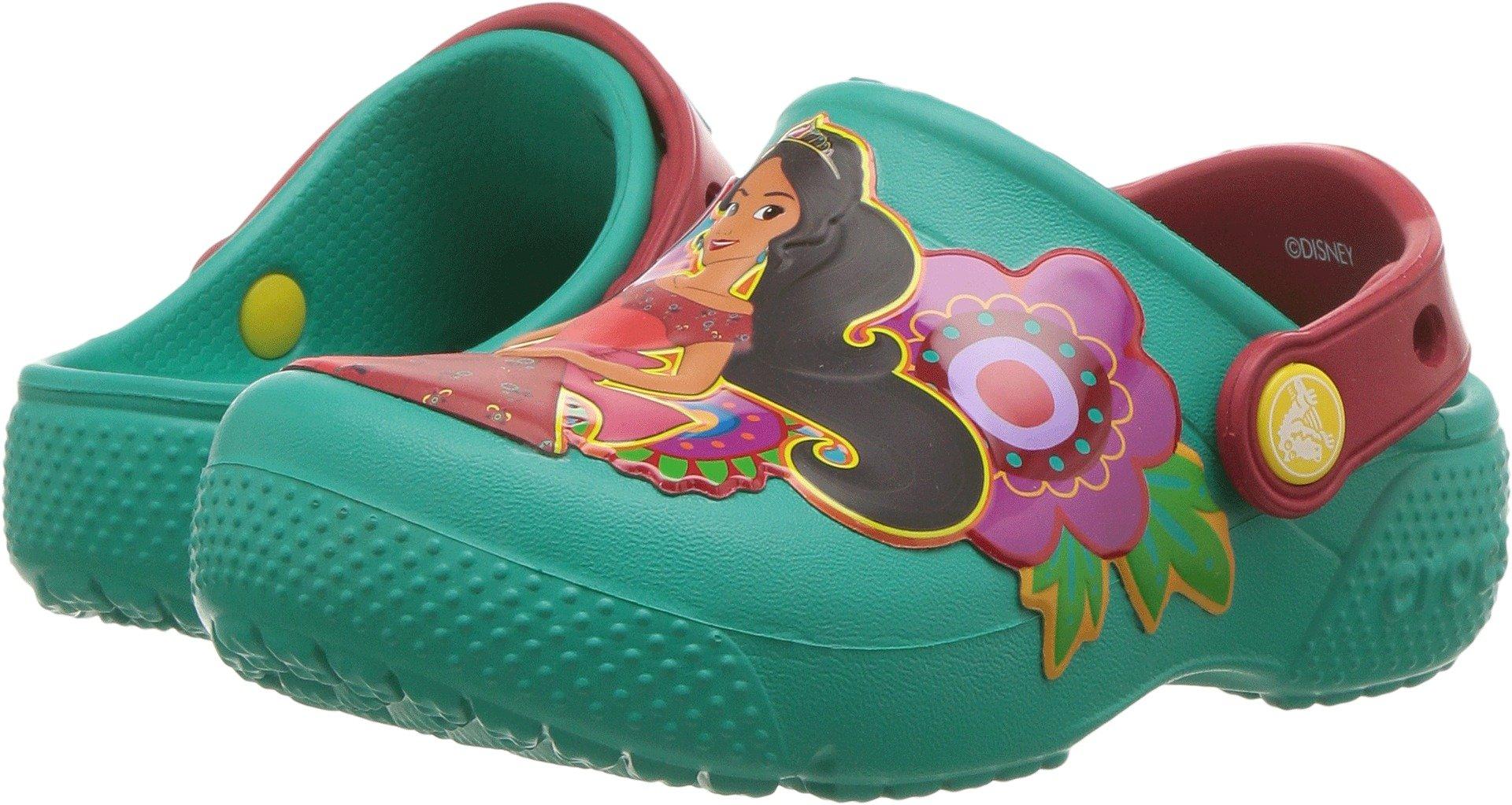 Crocs Girls' FL Elena of Avalor CLG K, Tropical Teal, 9 M US Toddler