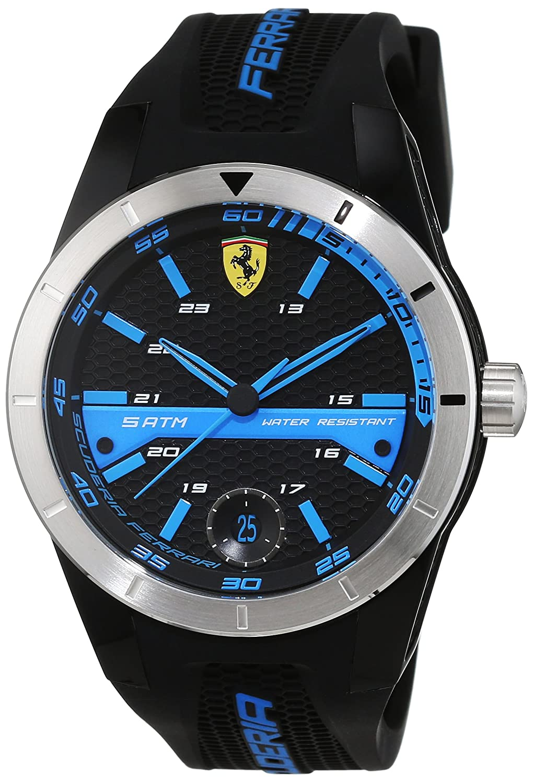 Scuderia Ferrari Orologi Herren-Armbanduhr Red Rev T Analog Quarz Silikon 0830252