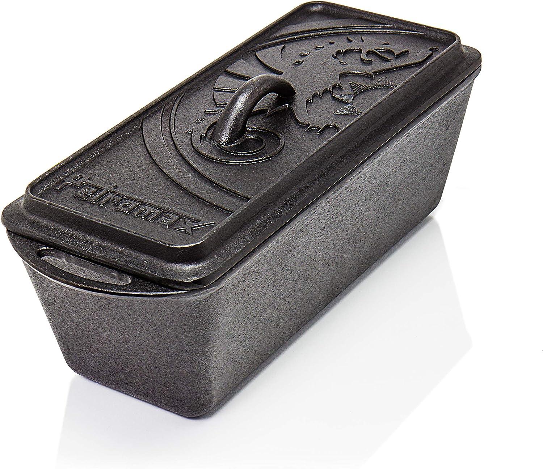 Petromax K4 - Bandeja de Horno (Pan, Carnes, Oven, Rectangular, Negro, Hierro Fundido)
