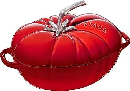 STAUB Cocotte Tomate 25 cm Kirschrot Forma, Hierro Fundido