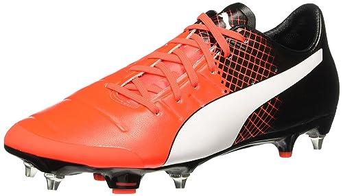 Puma Evopower 2.3 Mx Sg Scarpa da Calcio Man Football Red Blast/Bianco/Nero