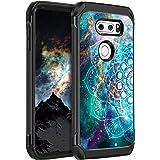 BENTOBEN Compatible with LG V30 Case, LG V30+ Case, LG V35 ThinQ Case Hybrid Dual Layers Nebula Mandala Design Hard PC Flexib