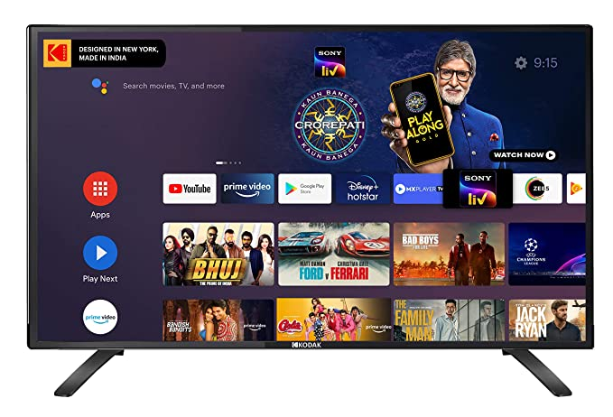 Kodak 102 cm  40 Inches  Full HD Certified Android LED TV 40FHDX7XPRO  Black   2020 Model  Smart Televisions