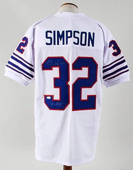 new concept 07a8f e27d6 Autographed O.J. Simpson Jersey - OJ Custom COA - JSA ...