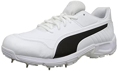 ced7a4fe6 Puma Men s Evospeed 18.1 C SpikeMen White Black Leather Cricket Shoes-11  UK India