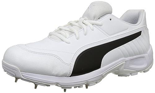 522b37b8aeb Puma Men s Evospeed 18.1 C SpikeMen White Black Leather Cricket Shoes-10  UK India