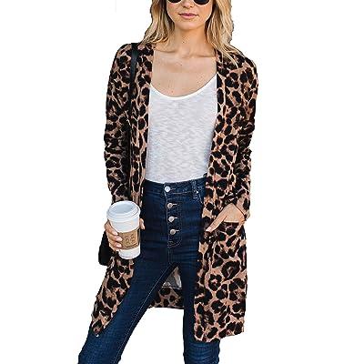 Amaryllis Apparel Women's Cozy Two Pocket Cardigan | 65% Polyester / 35% Cotton: Clothing