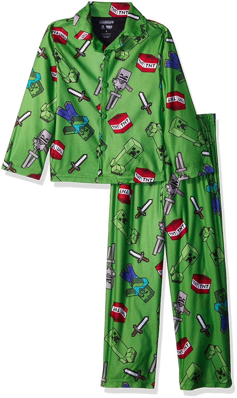 Minecraft Boys 2-Piece Pajama Coat Set 21MF134BCLZA-P6