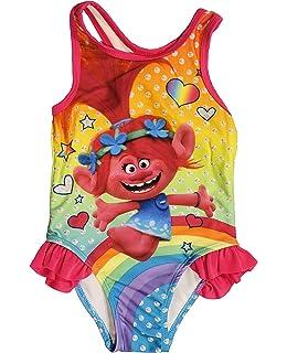 99fe1c12aa Amazon.com  Trolls Girls  Poppy Swimsuit  Clothing