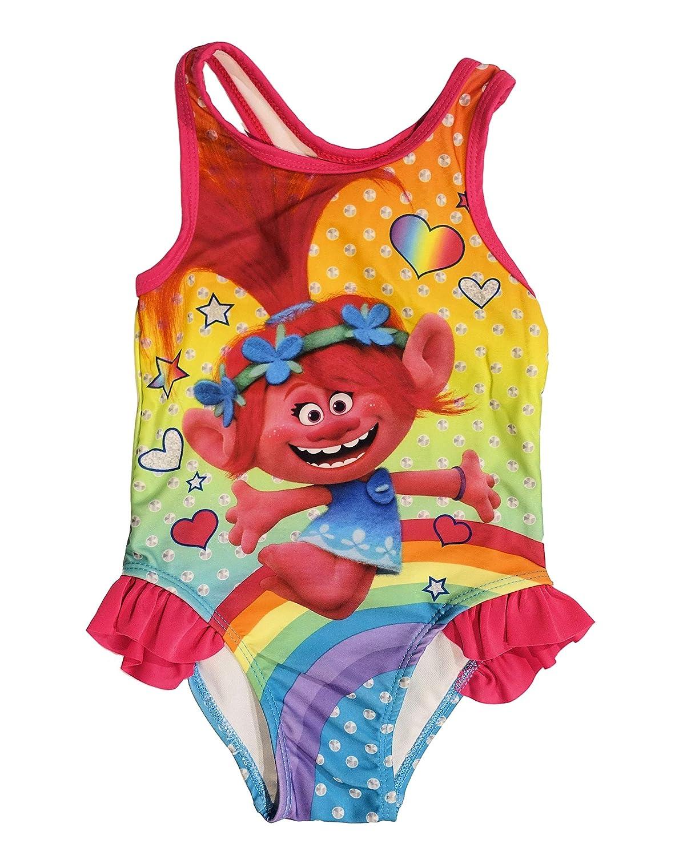 73d0a603e8421 Amazon.com: Toddler Girls Trolls 1 Piece Swimsuit: Clothing