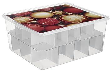Aufbewahrungsbox Christbaumkugeln.Rotho 1772110927 Aufbewahrungsbox Fur Christbaumkugeln