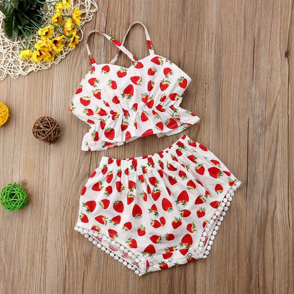Rolayllove Children Kids Girls Bikini Sleeveless Beach One Piece Floral Print Swimwear Swimsuit Bathing Suit for 1-5T