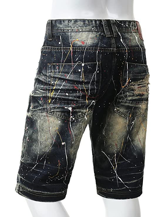 d0fe50474b URBANCREWS Mens Hipster Hip Hop Casual Summer Fashion Denim Jeans Shorts at  Amazon Men's Clothing store:
