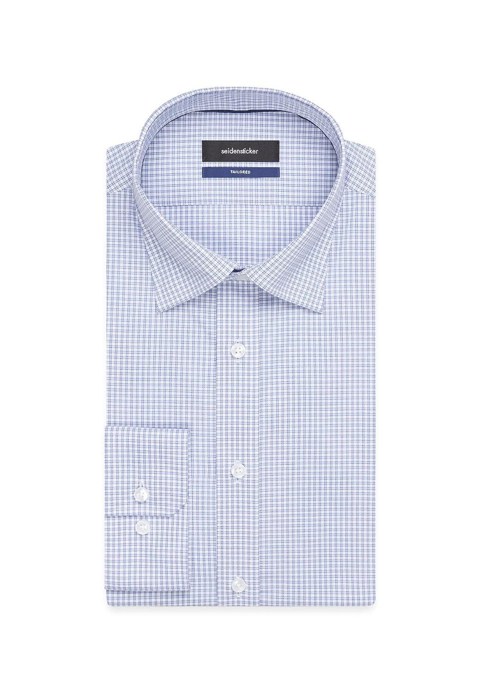Seidensticker Tailored Langarm mit Covered-Button-Down-Kragen B/ügelfrei Kariert Camicia Business Uomo