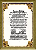 PERSONALISED 60th BIRTHDAY GIFT- Over 70 Amazing Facts About The Day You Were Born in a beautiful Gold Border background