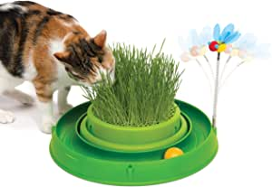 Catit Play 3 in 1 Circuit Ball Toy with Cat Grass Pad