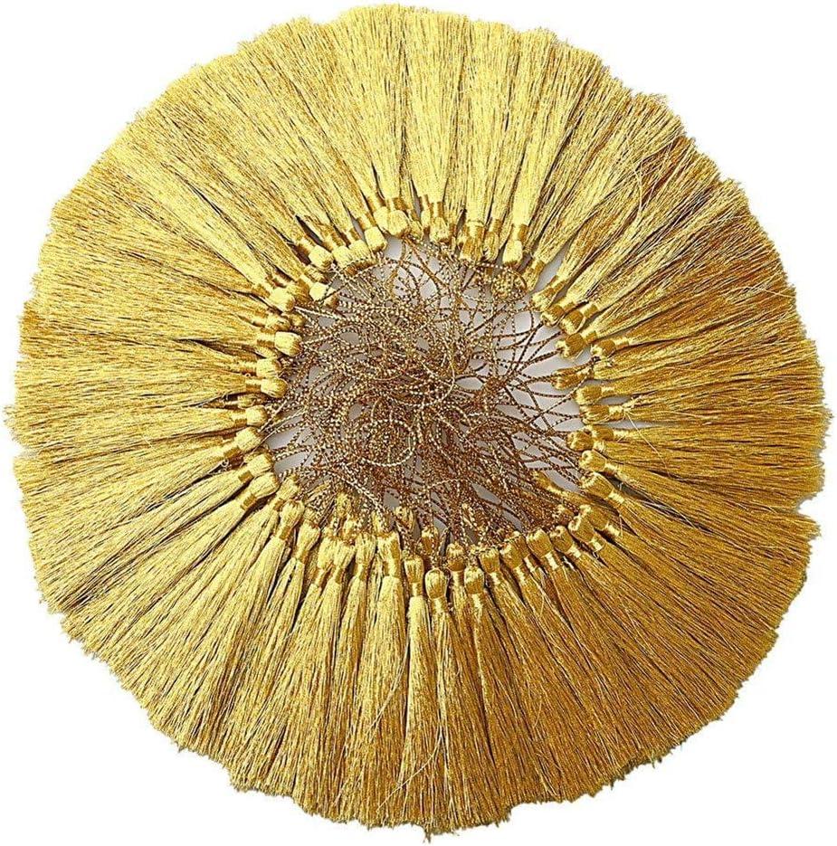 Silver Accessoires Grenier 100 Pompons en Argent dor/é avec Boucles 13 cm 17.8cm