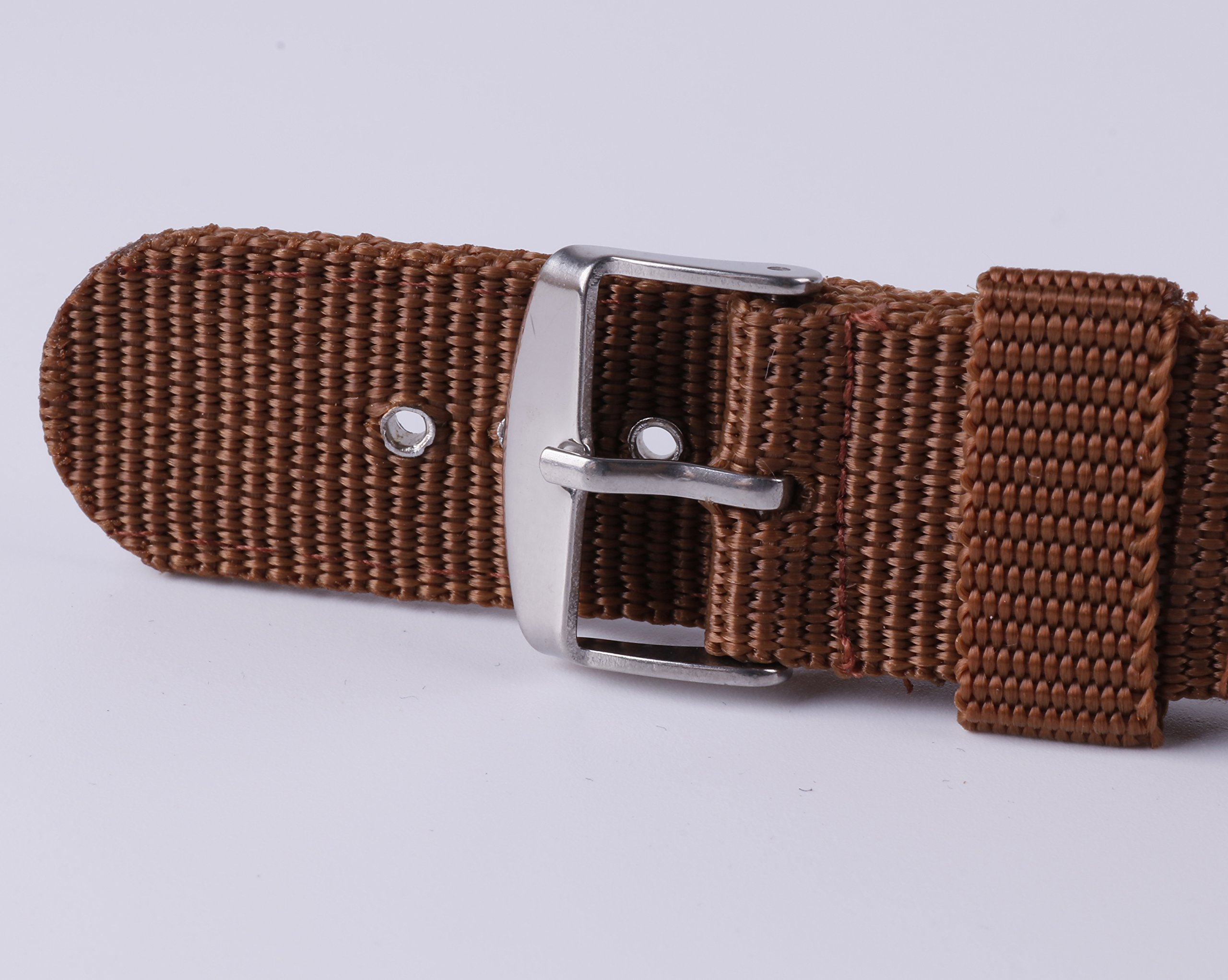 4pcs Nylon Watch Bands 16mm 18mm 20mm 22mm 24mm Premium Replacement NATO Style Watch Straps for Women Men by BONSTRAP (Image #6)
