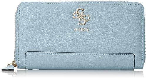 GUESS - Slg Wallet, Carteras Mujer, Azul (Sky), 3x11x20 cm (