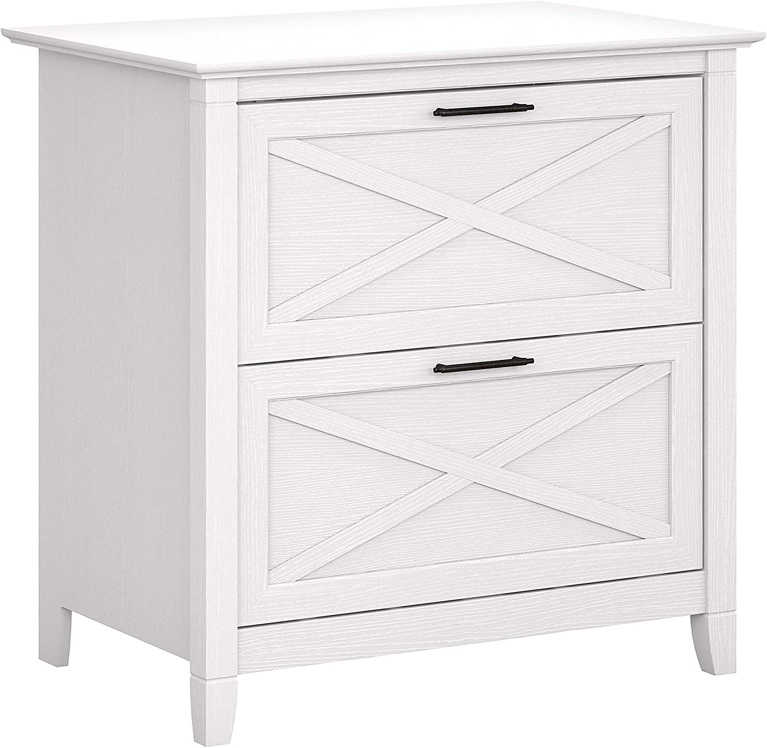 Bush Furniture Key West 2 Drawer Lateral File Cabinet, Pure White Oak