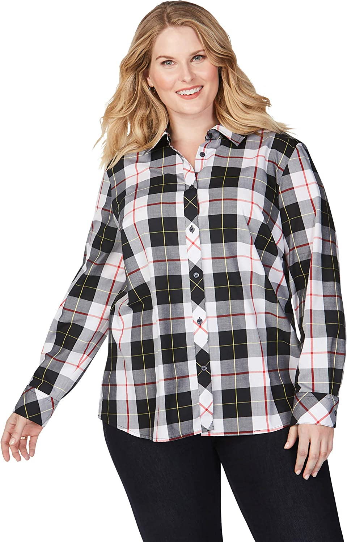 Latest item Ranking TOP8 Foxcroft Women's Size Diane Shirt Sinclair Plus Tartan