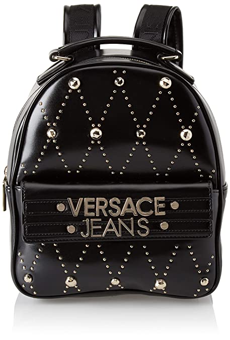 Versace Jeans - Ee1vsbbe7, Mochilas Mujer, Negro (Nero), 11x25x22 cm (