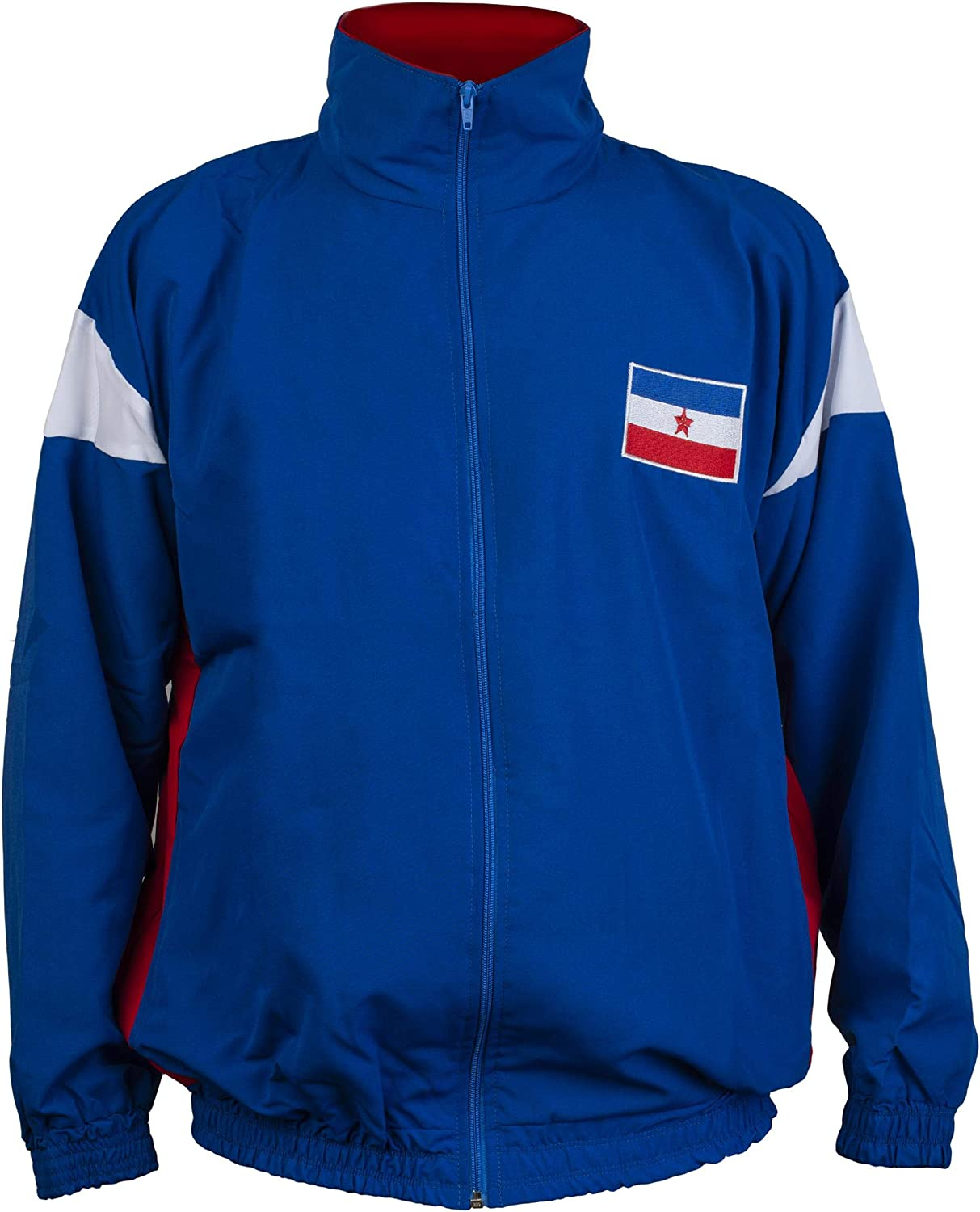 Yugoslavia 1980's Retro Vintage Commonist Era National Football Soccer Jacket Tracksuit Jumper