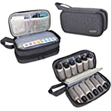 Luxja Essential Oil Carrying Case - Holds 12 Bottles (5ml-15ml, Also Fits for Roller Bottles), Portable Double-Layer…