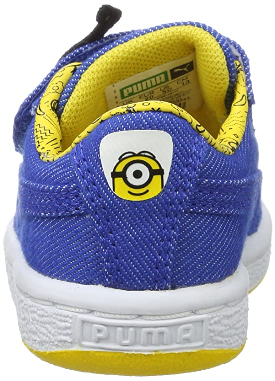 Puma Unisex-Kinder Minions Basket Wrap Statement Denim Inf Sneaker, Blau (Lapis Blue-Lapis Blue-Minion Yellow), 22 EU