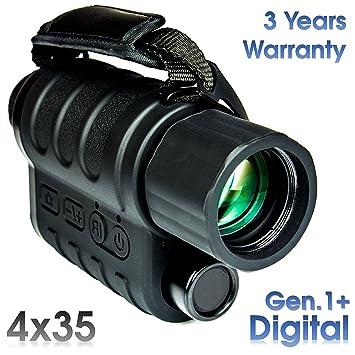 Maginon NV-40D 4x35 - Monocular Digital de Visión Nocturna y Full color cámara -