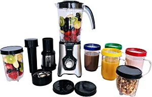 JOSKEM Bullet Blender for Shakes and Smoothies – Personal Blender with High-Torque 22000 RPM Motor, Interchangeable Blades and 4 Drink Cups – Grind, Chop and Blend Healthy Fruit Juices and Foods
