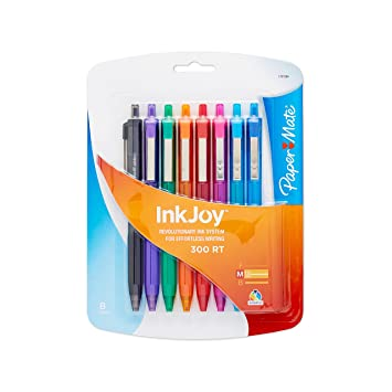 Amazon.com: Paper Mate InkJoy Ballpoint Pen, Assorted Colors, 8-Count:  Office Products