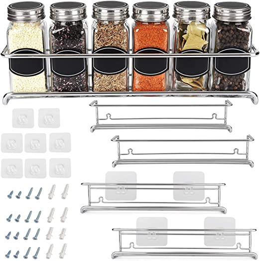 Sets Shop Kitchen Clip Spice Gripper Jar Rack Storage Cabinet Door Holder-W O9L8