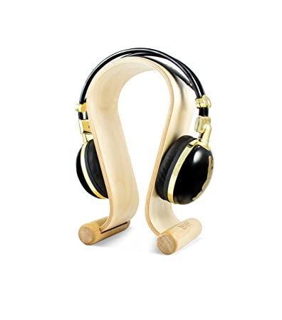 Texet HPS-001B Headphone Stand (White Birch) Headphone Accessories at amazon
