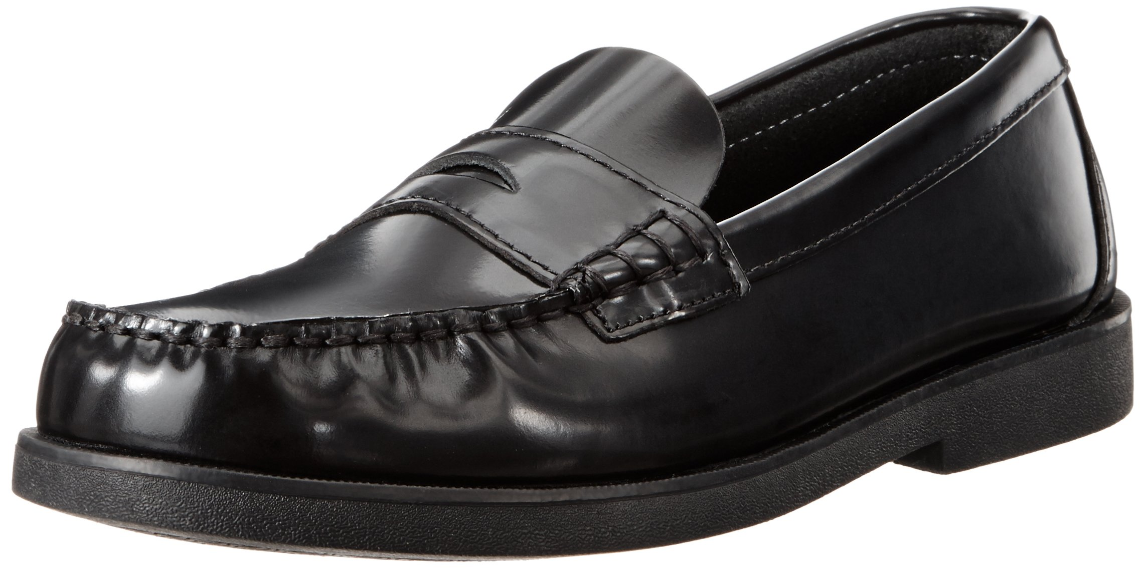 Sperry Colton Penny Loafer (Toddler/Little Kid/Big Kid),Black Leather,6 W US Big Kid