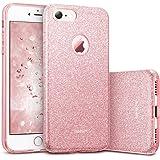 ESR iPhone 7 Cover con Brillantini/Glitters, Custodia Brillante Lucciante Luminosa [Elastica e Morbida] per Apple iPhone 7 (Oro Rosa)