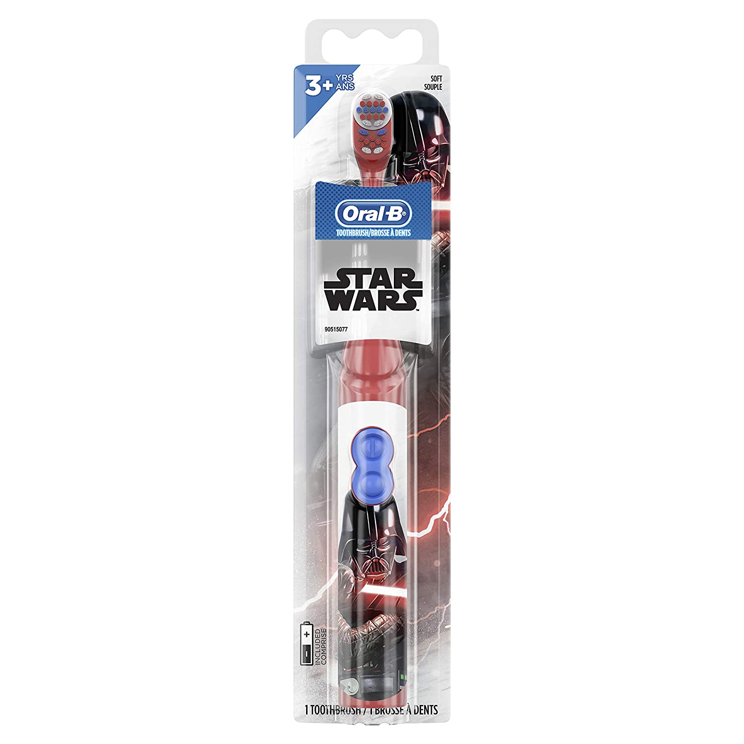 Oral-B Kids Battery Powered Electric Toothbrush Featuring Disney's STAR WARS for Children and Toddlers age 3+, Soft 1ct (Charact