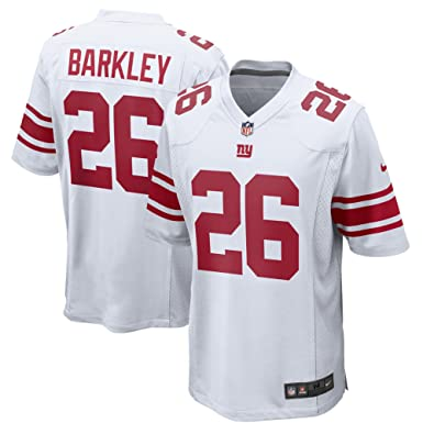 45b8bd358 Image Unavailable. Image not available for. Color  Saquon Barkley New York  Giants Nike 2018 Draft Pick White Game Jersey ...
