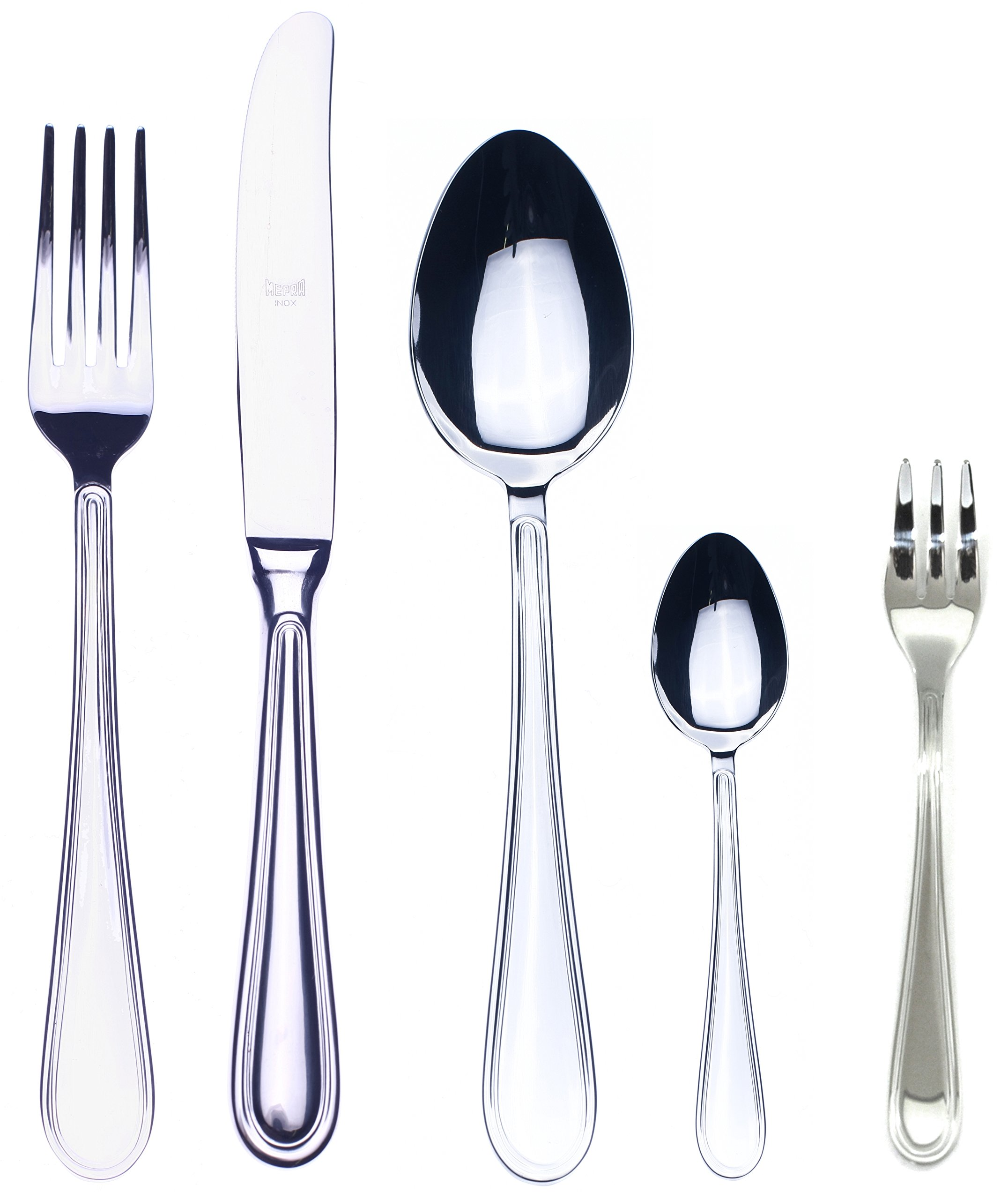 Mepra 30-Piece Norma Cake Server/Fork Set