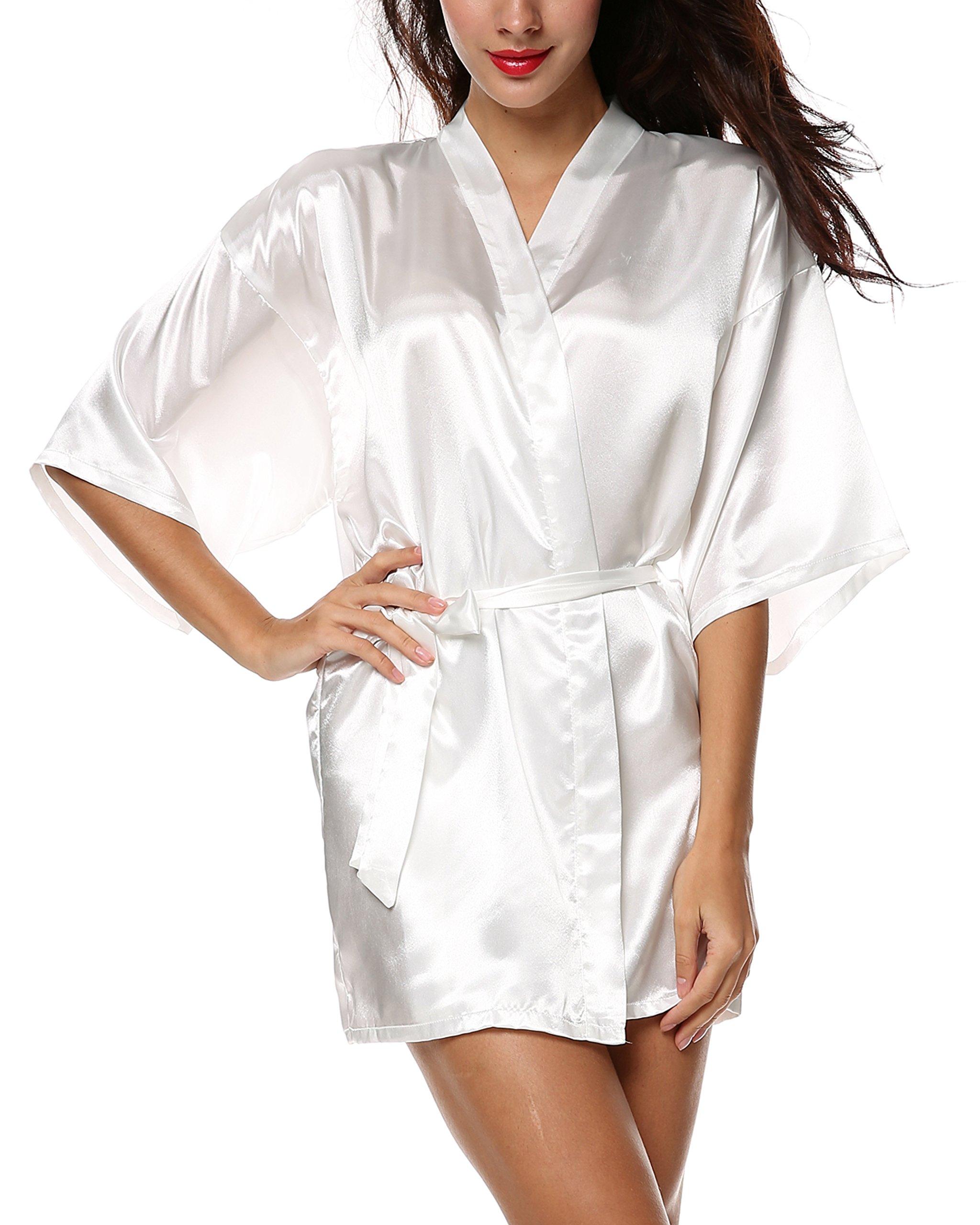 Avidlove Women Lingerie Lace Babydoll Mini Full Slips Modal Sleepwear White M