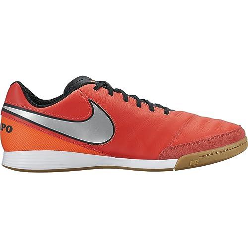 Nike Men's Tiempo Genio II Leather IC Indoor Soccer Shoe (Sz. 9) Light
